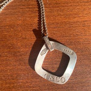 Tiffany & Co square pendant necklace